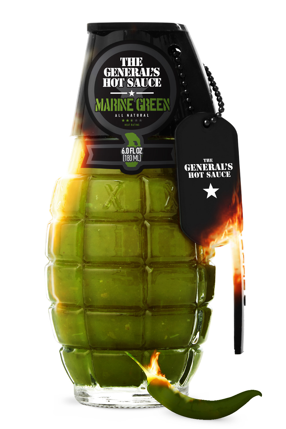 Marine Green - The General's Hot Sauce